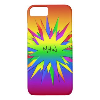 Rainbow Burst custom monogram cases