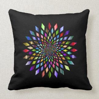 Rainbow Burst Geometrical Design Pillow