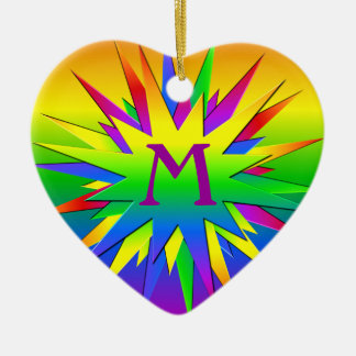 Rainbow Burst Ornament, customize Christmas Ornament