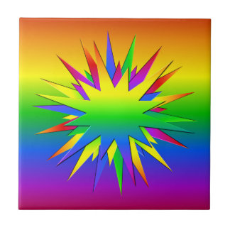 Rainbow Burst tile, customize Tile