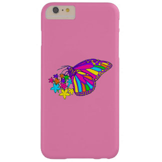 Rainbow Butterflies and Starflowers Barely There iPhone 6 Plus Case