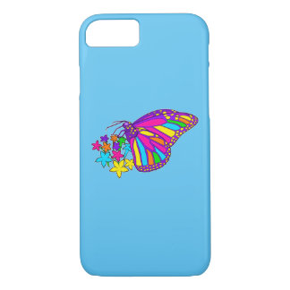 Rainbow Butterflies and Starflowers iPhone 7 Case