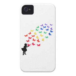 Rainbow Butterflies iPhone 4 Cover