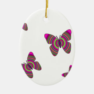 Rainbow Butterflies Ceramic Oval Decoration
