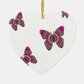 Rainbow Butterflies Christmas Ornament