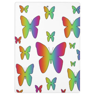 Rainbow Butterflies Clipboard