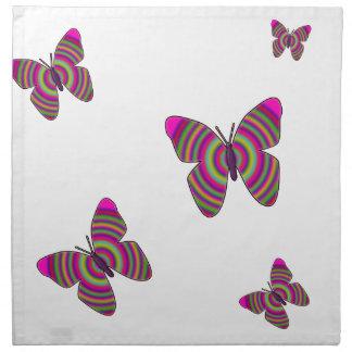 Rainbow Butterflies Napkin