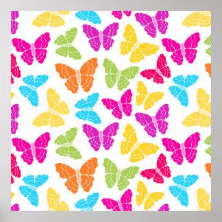 Rainbow butterflies Poster