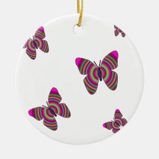 Rainbow Butterflies Round Ceramic Decoration