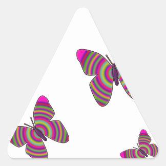 Rainbow Butterflies Triangle Sticker