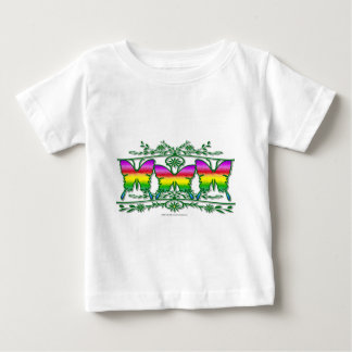 Rainbow Butterfly Band Baby T-Shirt