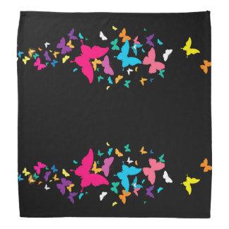 rainbow butterfly bandana