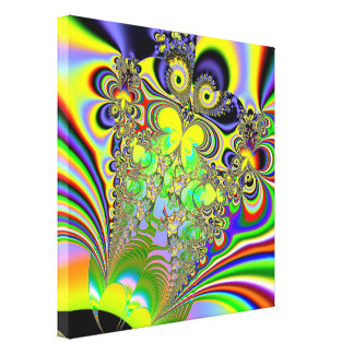 Rainbow Butterfly Bouquet Fractal Stretched Canvas Prints
