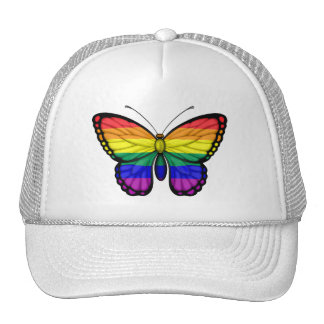Rainbow Butterfly Gay Pride Flag Hat
