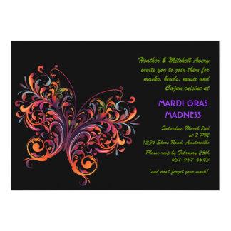 Rainbow Butterfly 13 Cm X 18 Cm Invitation Card