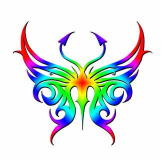 Rainbow butterfly magnet. standing photo sculpture