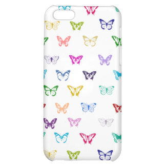 Rainbow butterfly pattern cover for iPhone 5C