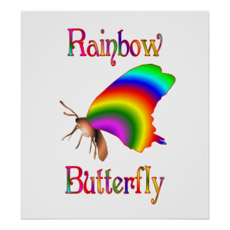 Rainbow Butterfly Posters