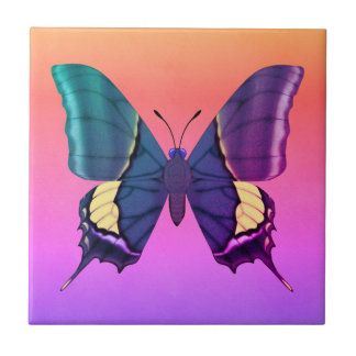 Rainbow Butterfly Tile