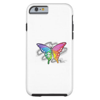 Rainbow Butterfly Tough iPhone 6 Case