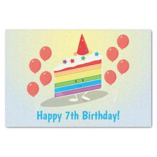 Rainbow Cake Birthday   Tissue Paper
