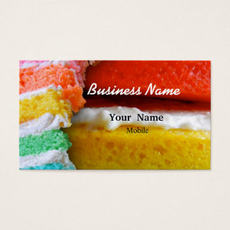 Rainbow Cake Business Card