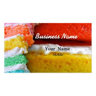 Rainbow Cake Business Cards
