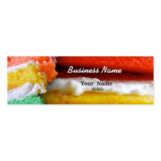 Rainbow Cake Business Card Template