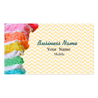 Rainbow Cake Double-Sided Standard Business Cards (Pack Of 100)