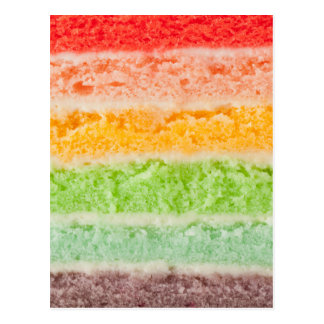 Rainbow cake layers postcard