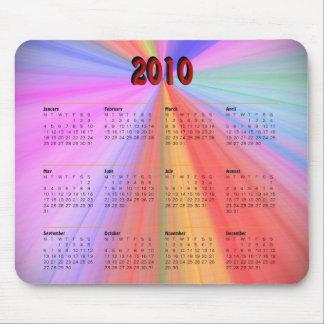 Rainbow Calendar 2010 Mouse Pad