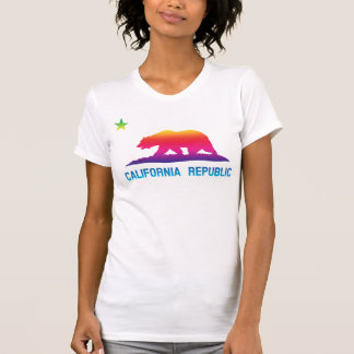 Rainbow California Republic Flag T-Shirt