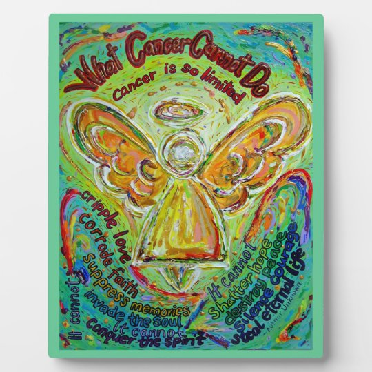Rainbow Cancer Cannot Do Angel Art Painting Plaque