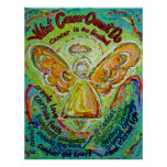 Rainbow Cancer Cannot Do Angel Painting Poster