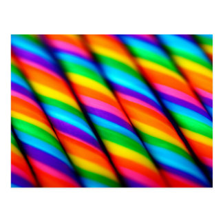 Rainbow Candy Canes 2 Postcard