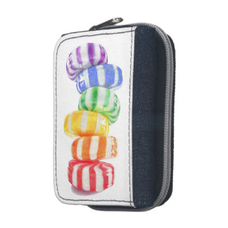 Rainbow Candy Denim Wallet with Coin Purse