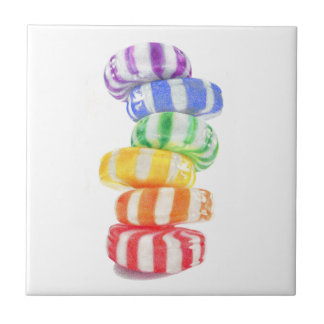 Rainbow Candy Small Ceramic Tile