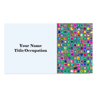 Rainbow Carnival Textured Mosaic Tiles Pattern Business Cards