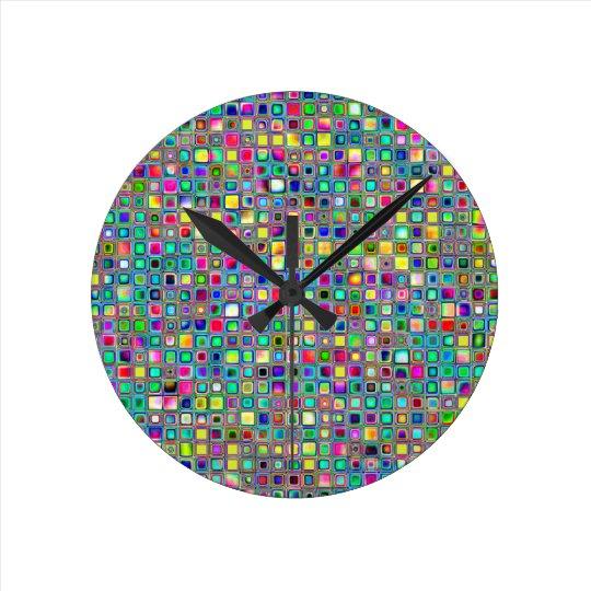 Rainbow 'Carnival' Textured Mosaic Tiles Pattern Round