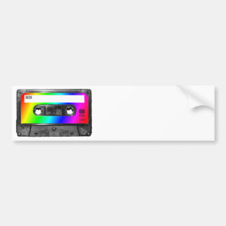 Rainbow Cassette Tape Bumper Sticker