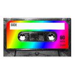Rainbow Cassette Tape Business Card