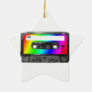 Rainbow Cassette Tape Ceramic Star Decoration