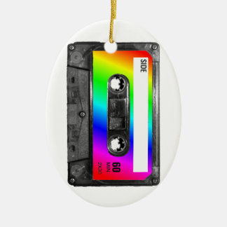 Rainbow Cassette Tape Christmas Ornament