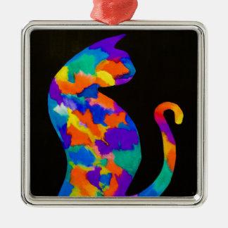 Rainbow Cat Christmas Ornament
