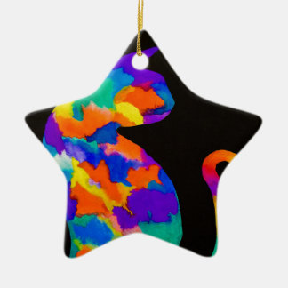 Rainbow Cat Christmas Ornament