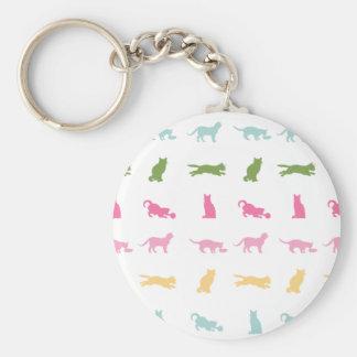 Rainbow Cat Pattern Key Chain