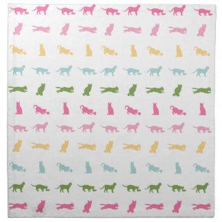 Rainbow Cat Pattern Napkin