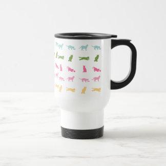 Rainbow Cat Pattern Travel Mug