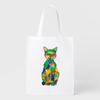 Rainbow Cat Reusable Bag