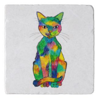 Rainbow Cat Trivet